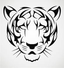 bengal tiger tattoo design royalty free vector image