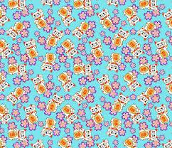 lucky cat japanese flower garden fabric tictactogs spoonflower