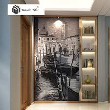 Painting Boat Interior Mosaic Murals Parquet Famous Painting Venice Beautiful City Water