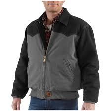 carhartt black friday deals men u0027s carhartt sandstone santa fe jacket 227112 insulated