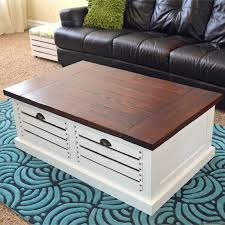 Wine Crate Coffee Table Diy by Crate Storage Coffee Table And Stools Her Tool Belt
