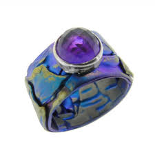 titanium colored rings images Designer giampouras anodized titanium band ring culturetaste jpg