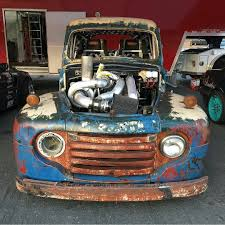 Old Ford Truck Drag Racing - 1949 ford f 1 with a 1 200 hp cummins u2013 engine swap depot