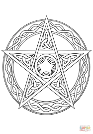 wiccan pentagram coloring page free printable coloring pages