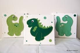 Dinosaur Nursery Decor Dinosaur Nursery Wall Decorations Set Of 3 On Luulla
