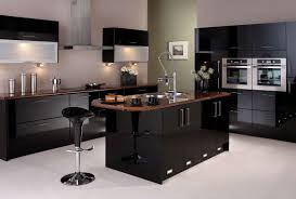 modern black kitchens kitchen excellent black kitchen decor with modern high gloss