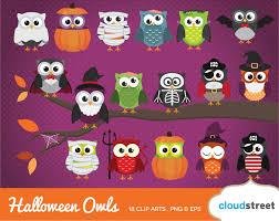 20 off cute halloween owls clipart halloween owl clip art
