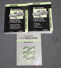 2002 toyota camry service manual 2002 toyota camry solara service repair manual set wiring