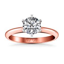 verlobungsring solitã r solitaire engagement ring cathedral 6 prong 14k gold