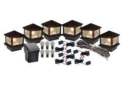 sirius 6 post cap led light installation kit