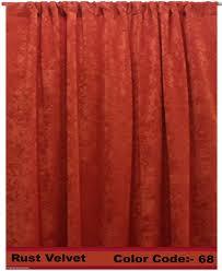 Rust Colored Curtains Panelrust Velvet Panel Jpg