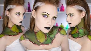 franken stitch frankensteins monster makeup tutorial halloween