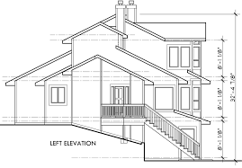 house plans with rear view view home sloping lot multi level house plan 3d home 360 view