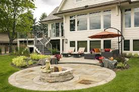Backyard Paver Patio by Edina Landscape Design With Curb Appeal Southview Design