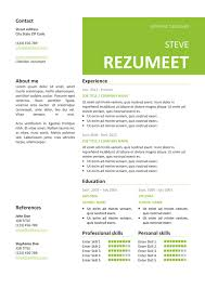 Resume Template Images Peckham Free Resume Cv Template Rezumeet Com