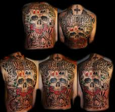 skull back tattoo by unibody on deviantart