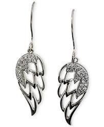 angel wing earrings diamond angel wing earrings 1 5 ct t w in 10k white gold