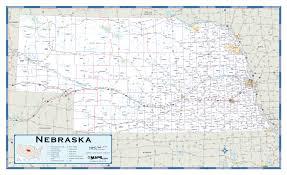 Nebraska On A Map Nebraska Highway Wall Map Maps Com