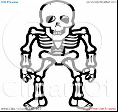 Halloween Skeleton Clip Art Unbelievable Halloween Skull Coloring Pages Printable With