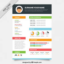 resume template with picture colors resume template vector free