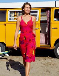 la fiancee du mekong achat en ligne robe portefeuille coupe midi sienna imprimé fleuri rouge la