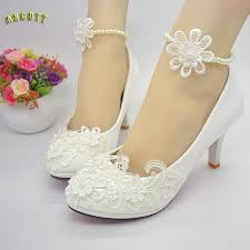 wedding shoes 2017 2017 new white lace pearl wedding shoes handmade bridal shoes