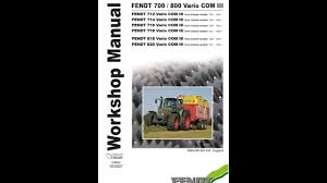 fendt 700 712 714 716 718 800 818 820 vario com3 workshop repair