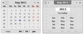 calendars examples javascript mootools css jquery page 1