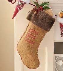 burlap u0026 fur monogrammed stocking joann