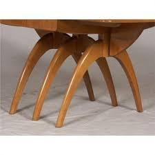 heywood wakefield drop leaf dining table modern