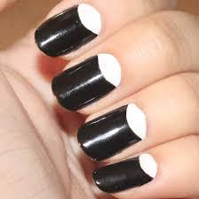 pretty nails to try half moon nail designs moon nails
