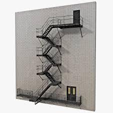 fire escape 3d models for download turbosquid