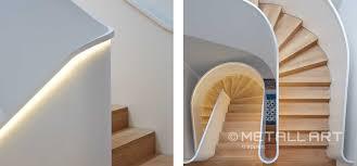 stahl treppe stahltreppe in eleganter form led beleuchtung metallart treppen