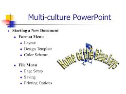 multi culture powerpoint starting a new document format menu