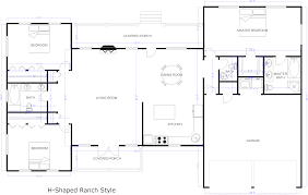 Floor Plan Example Ranch House House Plans