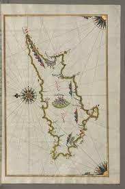 Map Of Cyprus File Piri Reis Map Of The Island Of Cyprus Walters W658334b