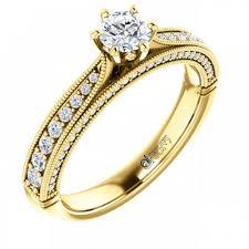 inele aur inel de logodna atcom cu diamante camille aur galben