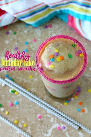 healthy birthday cake protein smoothie blendtec giveaway kim u0027s