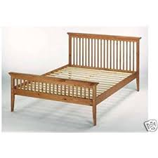 4ft6 135cm double shaker wooden bed frame amazon co uk kitchen