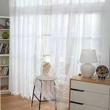 White Sheer Curtains White Sheer Curtains With Designs Simple And Concise Design