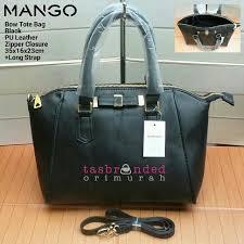 Tas Mango Orisinil mango bow tote bag in black tas mango original murah preloved