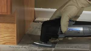 removing grout and cutting floor tile dremel 4200