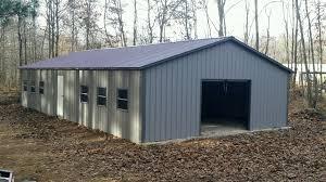 Large Garage by Commercial Metal Buildings Auto Repair Garage Workshop Building