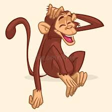 cute cartoon drawing of a monkey sitting vector illustration of
