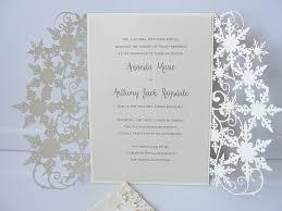 snowflake wedding invitations winter wedding invitation snowflake wedding invite