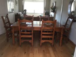 barker u0026 stonehouse java dining table with 6 chairs including 2