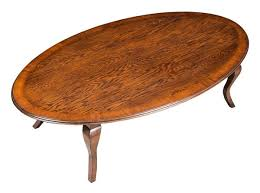 Wood Oval Coffee Table - oak oval coffee table with yew banding