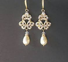 wedding earrings drop antique gold chandelier earrings gold vintage wedding earrings