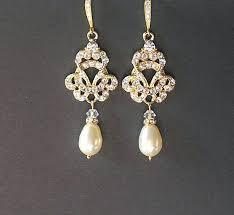 wedding earrings drop antique gold chandelier earrings gold vintage wedding earrings