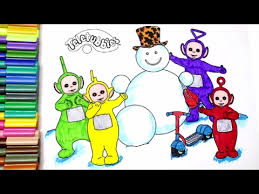 learn colors kids color teletubbies coloring